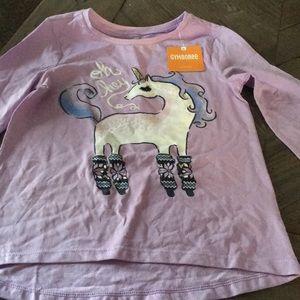 NWT Gymboree unicorn top